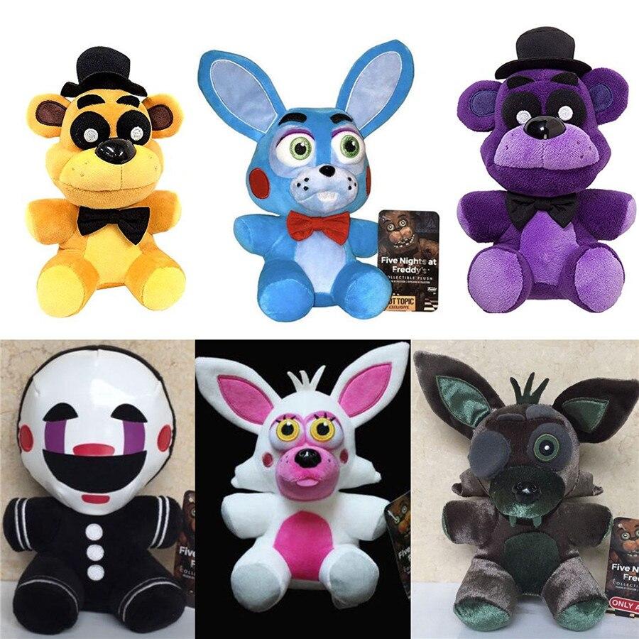 20cm Anime Game Toys FNAF Five Nights at Freddys Sanshee Plushie Plush Toy Kawaii Bear Foxy Xmas Baby Kids Girlfriend Gift