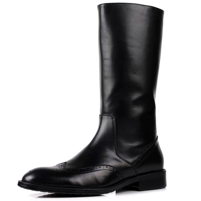 Compare Prices on Mens Knee High Leather Riding Boots- Online ...