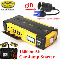 Emergency Car Jump Starter 16000mAh Portable Starting Device Power Bank 12V 600A Car Charger For Car