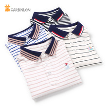 Free Shipping 2018 Summer Boys Polo Shirt Striped Short Sleeve Cotton Thin Embroidery polo Kids Tops boys clothes camisa polo