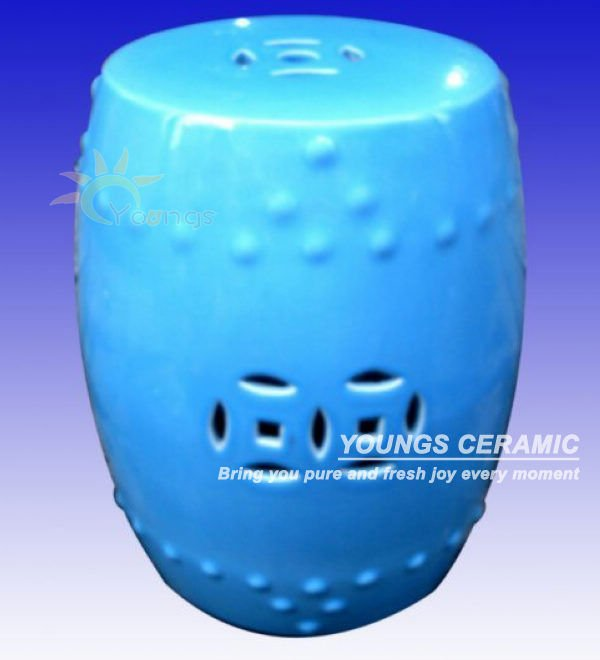 Jingdezhen Glazed Ceramic Outdoor Garden Stool jingdezhen golden glazed ceramic porcelain garden face stool