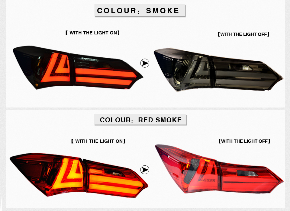 Detail Feedback Questions About Vland Factory For Car Tail Light Corolla Led Taillight 2017 2016 Rear With Drl Reverse Brake On