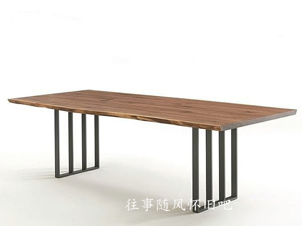 American Furniture Loft Wind Retro Original Wooden Tables And Wrought Iron Dining Table Coffee Work