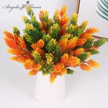 Ucuz noel çam kozalağı yapay bitkiler çiçek bromegrass dekoratif çiçek bitkileri yapay çim için/ev vazo dekorasyon