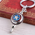 MS The Avengers Captain America Shield Keychain Key Holder Metal Whistling Key Rings For Gift Chaveiro Key chain Jewelry