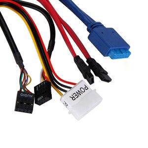 """Image 5 - Multifunction 5.25 """"Media Dashboard Kaartlezer Usb 2.0 Usb 3.0 20 Pin E Sata Sata Voorpaneel"""