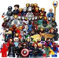 С карты Полный Marvel Super Hero Мстители Человек-Паук Бэтмен Железный Человек Халк Строительные Блоки set With 30 pcsset