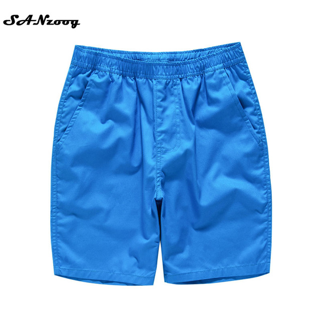 M-4XL Casual Men Beach Shorts Solid 100% Cotton 2017 New Brand Inside Drawstring Trousers Summer Clothing(12 Colors)