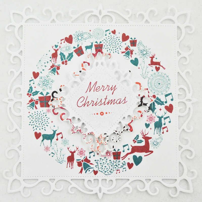 4 Die-Cut Merry Christmas Cars Card Making Scrapbook Craft Embellishments