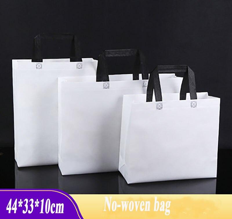 En gros 20 pièces 50 pcs 44*33*10 cm grand réutilisable écologique non tissé sacs à provisions sac en tissu cadeau emballage sac livraison gratuite
