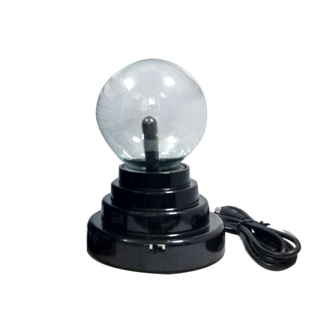 Party Lamp Light USB Magic Black Base Glass Plasma Ball Sphere Lightning ac powered plasma ball red light lightning sphere 220v eu plug