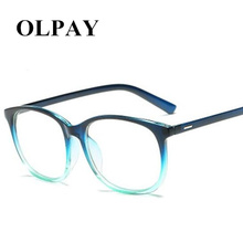 Brand Women&Men Gradual Change Glasses Frame Flat Mirror Transparent Fake Computer Reading Clear