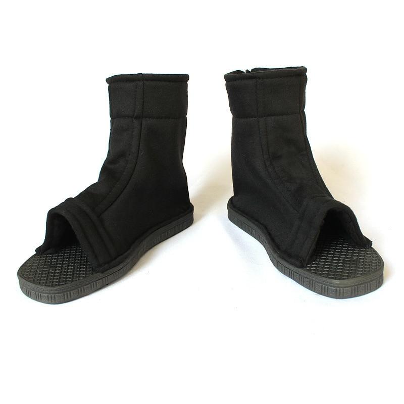 Туфли для косплея Наруто Akatsuki Nanja Uzumaki Naruto Sakura Sasuke черные синие хлопковые мягкие сандалии женская обувь