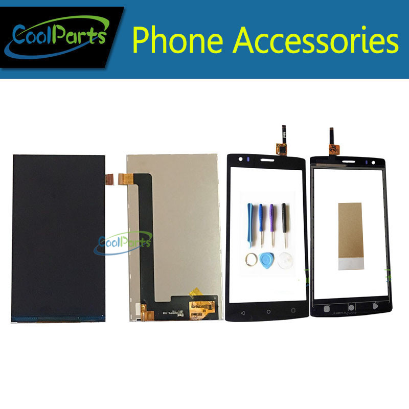 1PC/Lot High Quality For Fly Cirrus 1 FS 502 FS502 LCD Display Screen + Touch Screen Digitizer With Tool&Tape Black White Color