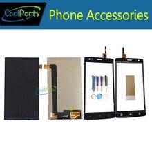 Продажа 1 шт./лот Высокое качество для Fly FS502 Cirrus 1 FS 502 ЖК-дисплей Экран дисплея + Сенсорный экран планшета с инструмент и Клейкие ленты черно-белый цвет