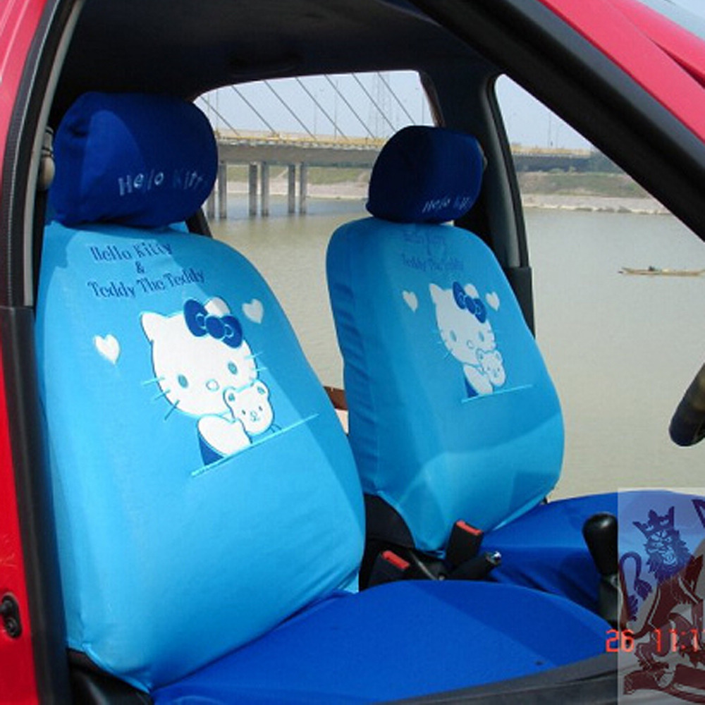Hello kitty universal car seat cover kt bear heart styling - Hello kitty car interior accessories ...