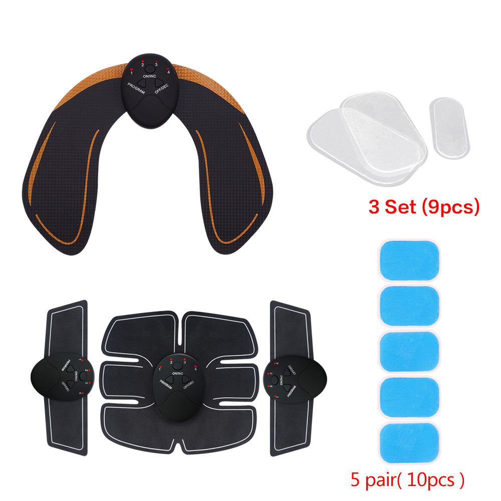Smart EMS Hips Trainer Electric Muscle Stimulator Wireless Buttocks Abdominal ABS Stimulator Fitness Body Slimming Massager Knit ems hips trainer