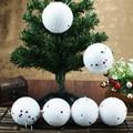 Горячая Распродажа, 12 шт., белые украшения для снежков, 5 см, декоративный шар, Рождественская елка, шар-безделушка для дома