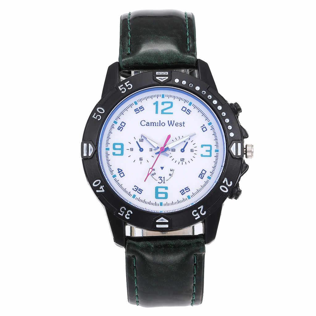 豪華な女性のファッション高級時計ブルーガラスダイヤルカジュアル革ベルト女性の腕時計レロジオ feminino リロイ mujer