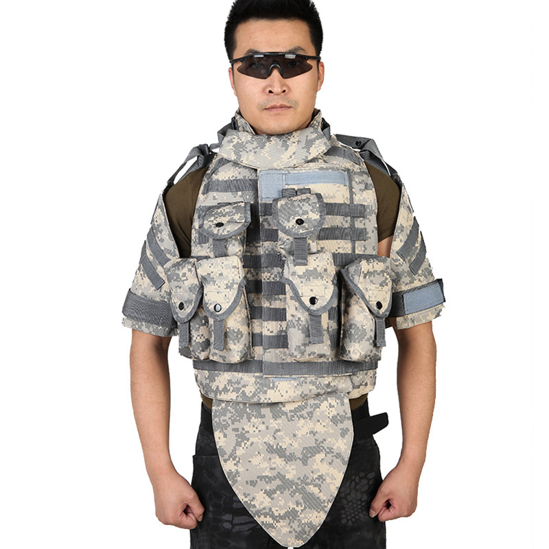 New OTV Tactical Vest Real-life CS Field Protective Waterproof Wear-resistant Equipment Camouflage Combat Adjustable Body Armor