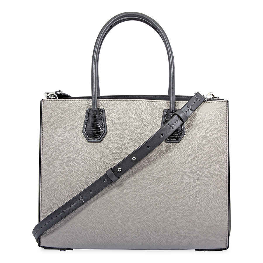 b64779991700 ... Michael Kors Mercer Accordian Convetible Tote Large (Silver Gray)  Luxury Handbags For Women ...