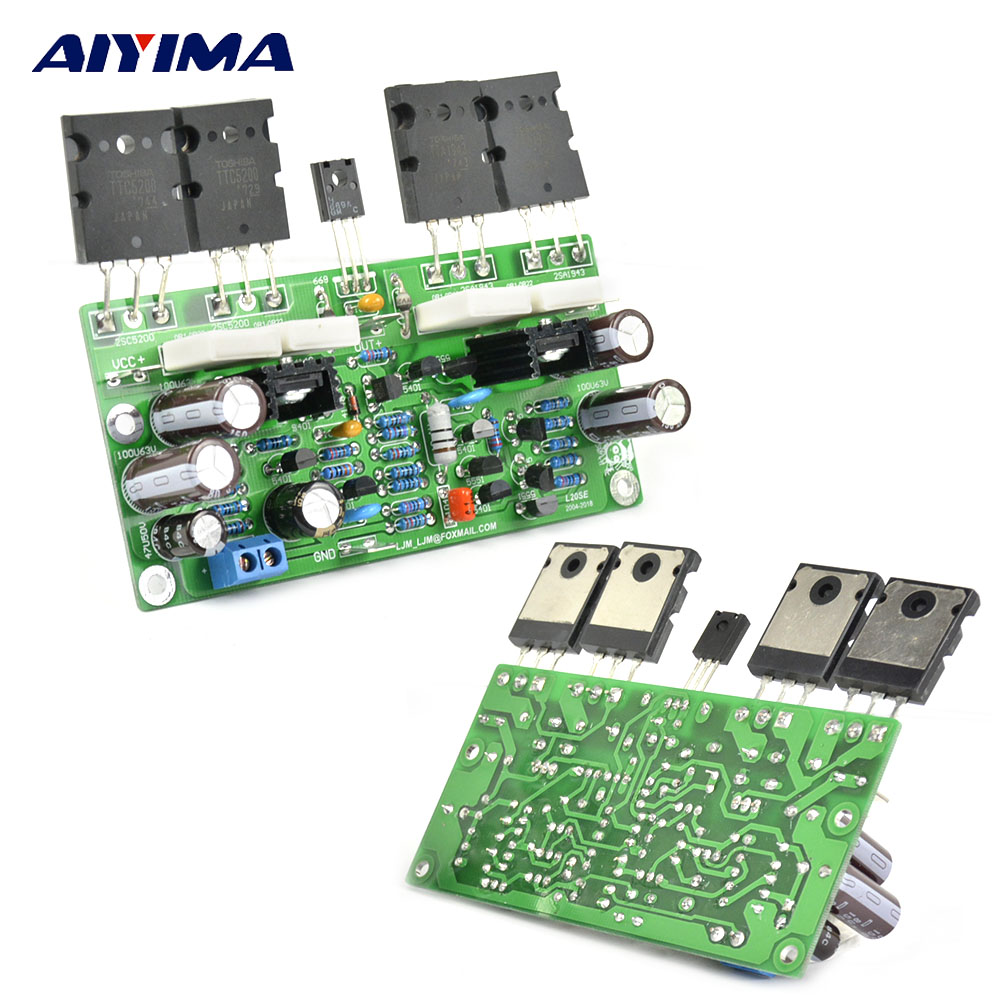 AIYIMA 2Pcs L20 SE Audio Amplifier Board TOSHIBA A1943 C5200 Dual Channel Stereo Amplifier Power Board