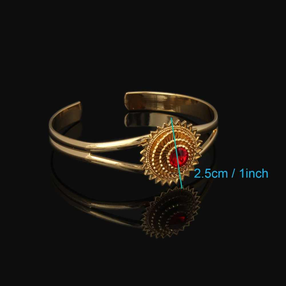 Traditional Ethiopian Wedding Jewelry Bangle Gold Color Jewelry