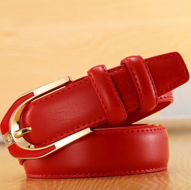 Moda Real de piel de Vaca de Los Hombres de La Vendimia Correa de piel de Vaca Pin Hebilla de Cinturón de Correa de Cuero de Mujer Femenina de Lujo Vestido de Las Mujeres Jeans Cinturones correa