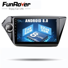 Funrover 9″Octa Core Android 8.0 car dvd player For Kia K2 Rio 2012 2013 2015 2016 gps navigation car radio video player stereo