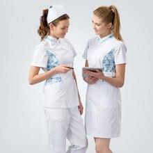 Элегантная униформа медсестры, облегающее медицинское платье, зима-лето, халат доктора, медицинская одежда, высокий белый косметик, официантка, рабочая одежда