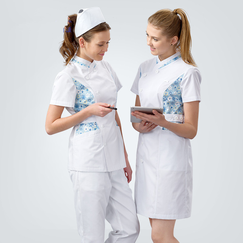Elegant Nurse Uniform Slim Fit Medical Dress Winter Summer Doctor Gown Medical Clothing Tall White Beautician Waitress Workwear