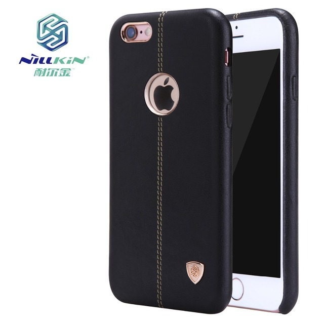 low priced d946c 12b84 US $13.37  NILLKIN Englon Leather Case For Apple iPhone 6 6S Case Bumper  Dustproof Phone Back Cover For iPhone 6S Plus Case Capa Coque on ...