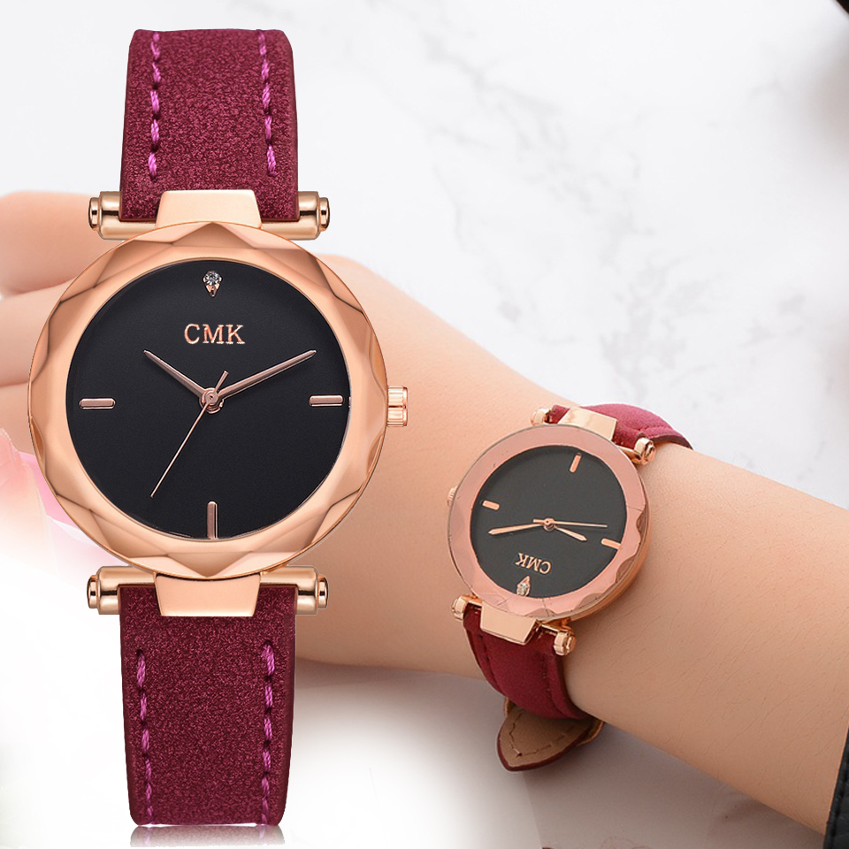 Women Brand Top Luxury Leather Watches Ladies Fashion Rose Gold Dress Quartz Wrist Watch Clock Creative Desgin Bracelet Watch duoya brand new arrival women gold leather wrist watches for women dress bracelet luxury crystal vintage quartz watch clock 2018