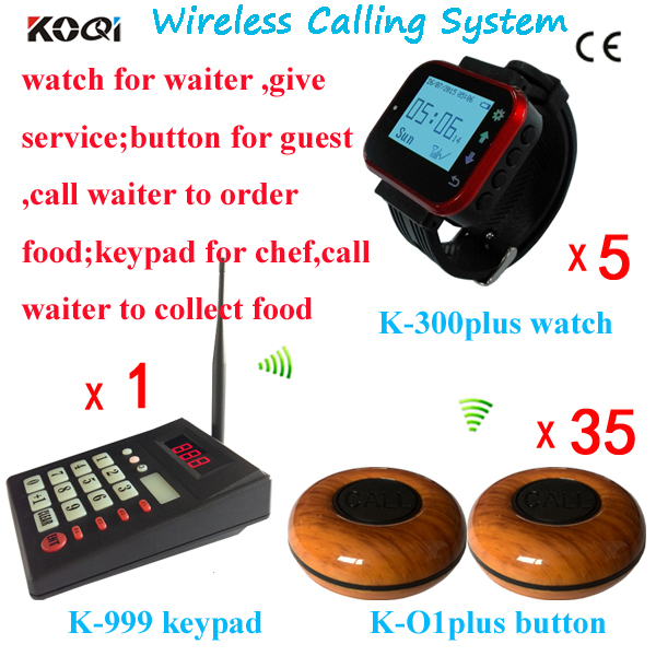 Restaurant Kitchen Order System 1 keyboard 5 watch wrist 35 buttons restaurant ordering system