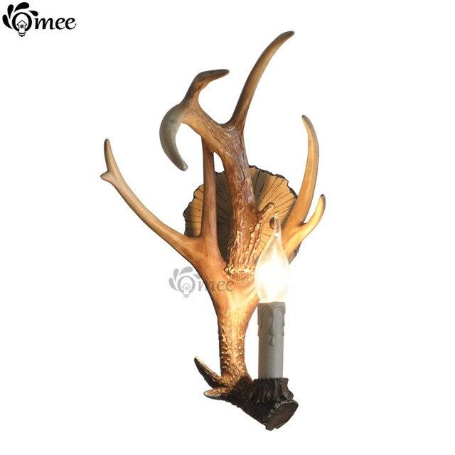Vintage gewei wandlamp slaapkamer wit elanden land for Wit gewei decoratie