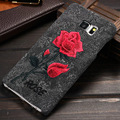 Шикарный Ретро Искусство Ручной Работы Вырос Вышивка Цветок Ультра Тонкий Корпус Телефона Защитная Крышка Чехол для Samsung Galaxy S6 Edge Plus