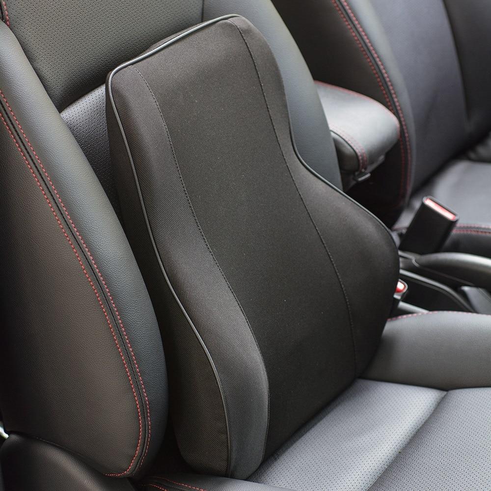 Siège de voiture prend en charge la mousse à mémoire de forme soutien lombaire oreiller coussin maison bureau Automobile
