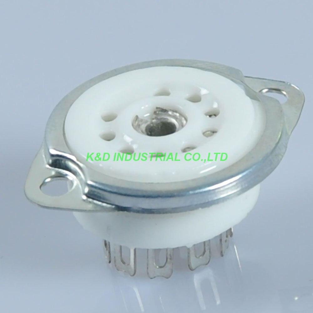 5 pièces 9pin Amplificateur Audio Argent Tube Prise 12AX7 12AU7 ECC83 6922 pour montage sur châssis pour Amplificateur À Tube
