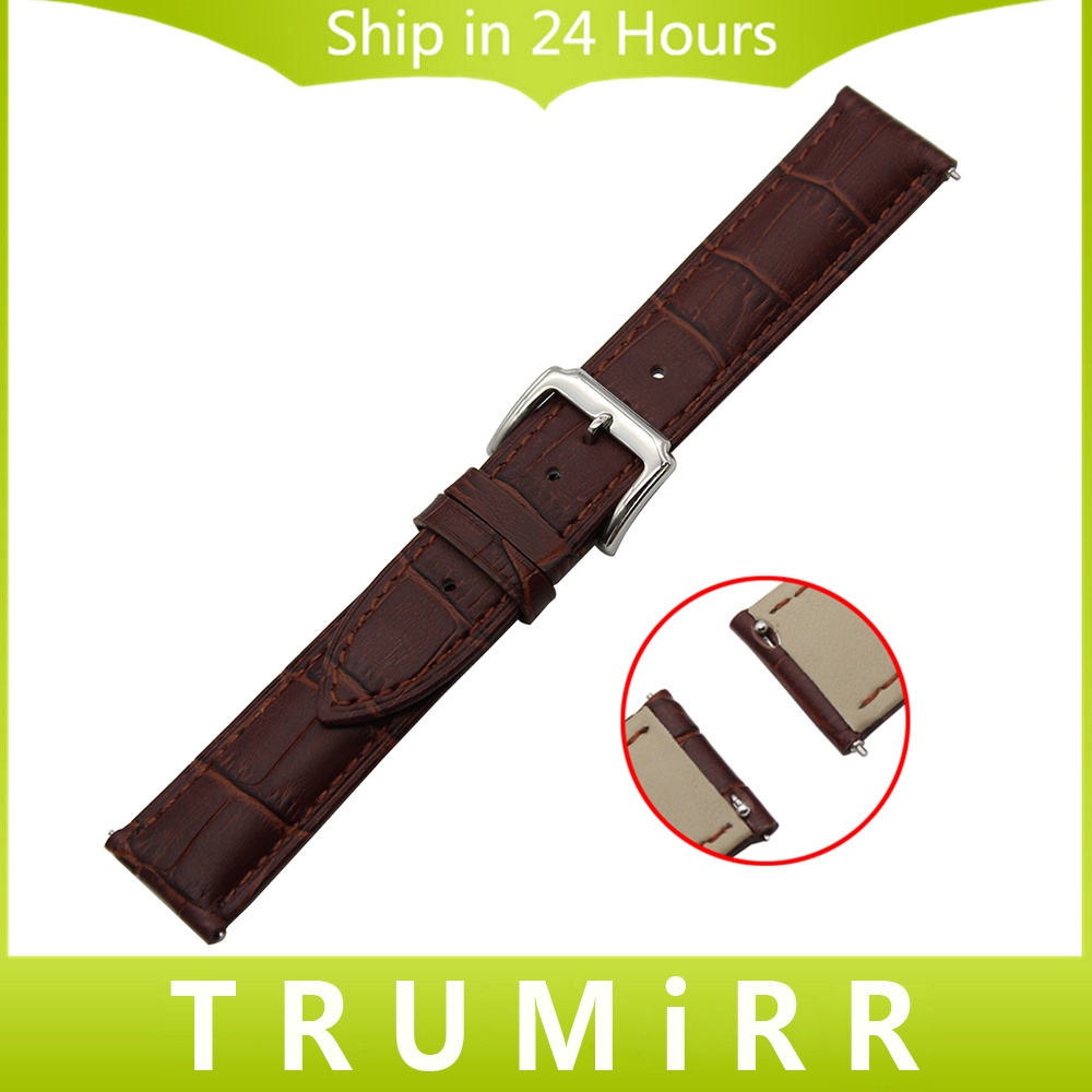 Quick Release Watch Band 18mm 20mm 22mm Genuine Leather Strap for Timex Men Women Stainless Steel Pin Buckle Belt Wrist Bracelet genuine leather watch band 22mm for pebble time steel stainless pin buckle strap quick release wrist belt bracelet black brown