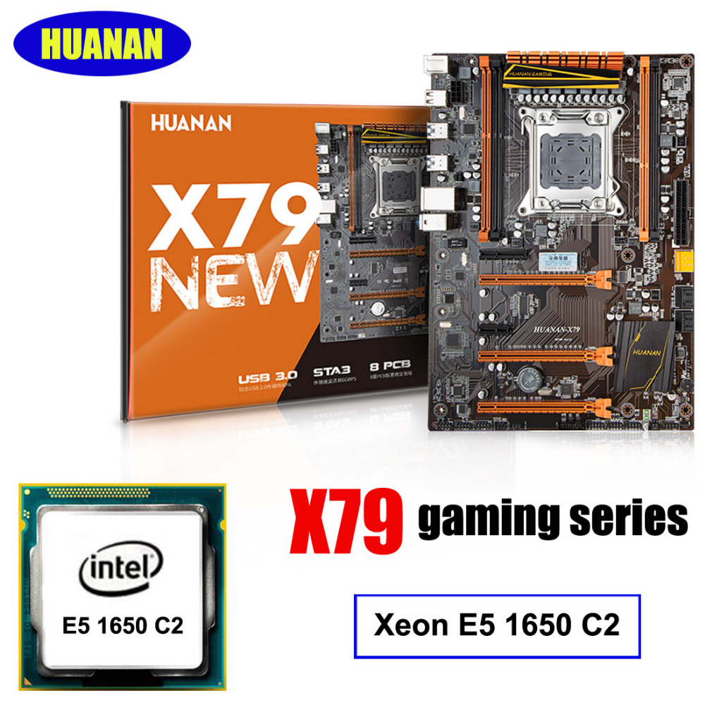 HUANAN DELUXE X79 LGA2011 gaming motherboard CPU RAM combos Intel Xeon E5 1650 C2 2 years warranty процессор intel xeon e5 1620v2 cpu z9pa u8