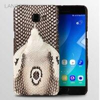 wangcangli brand phone case real snake head back cover phone shell For Samsung Galaxy C9 Pro full manual custom processing