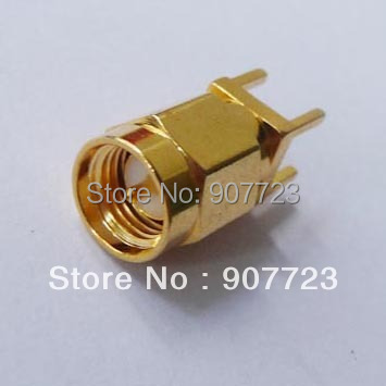 100 шт. SMA штекер Центральная Пайка для монтажа на печатную плату РЧ разъем