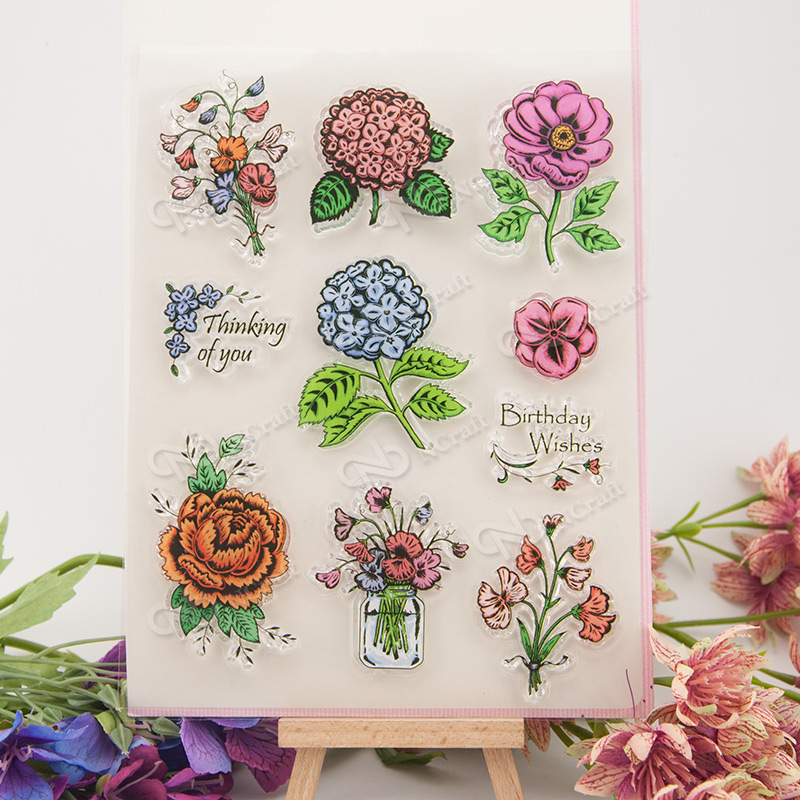 Flowers Transparent Clear Silicone Stamp/Seal for DIY scrapbooking/photo album Decorative clear stamp A189 flowers and lace design transparent clear silicone stamp seal for diy scrapbooking photo album wedding gift cl 083