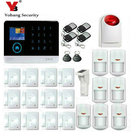 YobangSecurity Wireless wifi GSM GPRS RFID Home Security Alarm System Home Automation System Waterproof Solar PIR Motion Sensor yobangsecurity wireless wifi gsm gprs rfid home security alarm system smart home automation system pet friendly immune detector