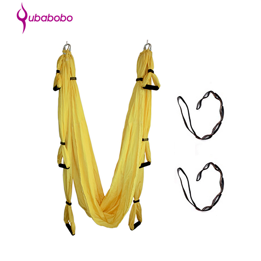 Gentle Yoga Hammock Parachute Fabric Nylon Taffeta Anti Gravity 15 Colors Lengthened 350*150 Cm Decompression Gym Hanging qubabobo