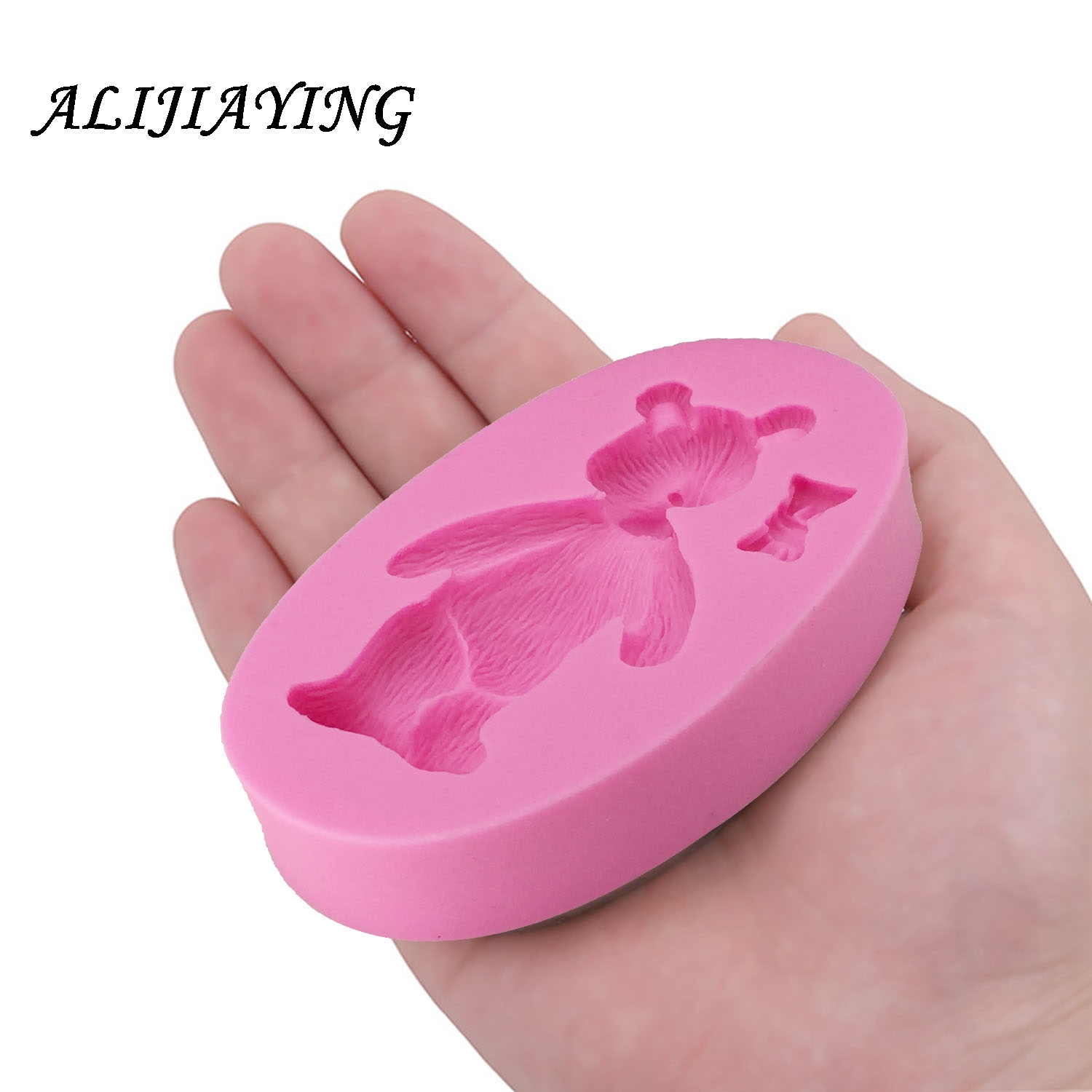 DIY Bear Confectionery silicone molds for cake decoration baking mould silicone fondant Polymer 3D clay molds D1235 in Clay Extruders from Home Garden