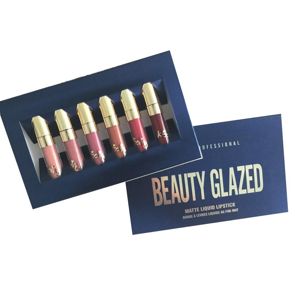 Gloss conjunto de longa duração nua Feature 2 : Nude Moisturizer Lip Gloss Makeup