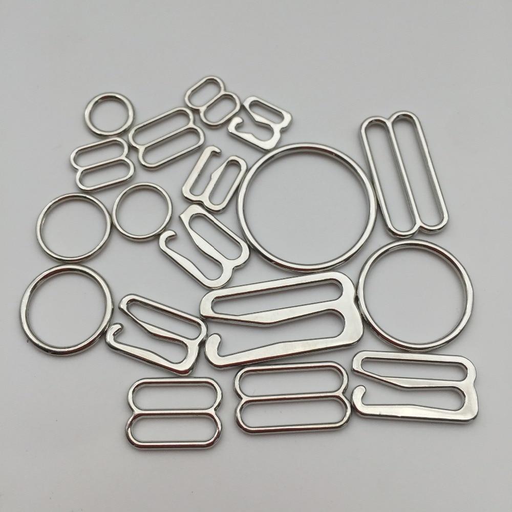 Серебристый бюстгальтер со сплавом, Крючки слайдеры, 200 шт./лот, бесплатная доставка Пряжки и крючки      АлиЭкспресс