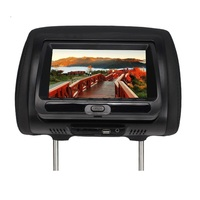 SH7828DVD 7 Inches Headrest Monitor Car Monitor TFT LED Digital Screen Player for Car Support SD Card,MP5, USB Card