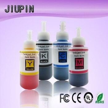 4 Color Dye Based Refill Ink Kit for Epson L100 L110 L120 L132 L210 L222 L300 L312 L355 L350 L362 L366 L550 L555 Printer Eco Ink цена 2017